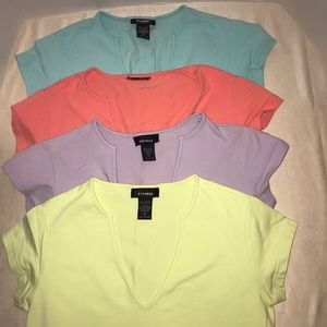 Express T-Shirt Tee Shirt 4 Bundle Medium V-neck